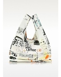 Maison Martin Margiela Mm6 Printed Canvas Tote