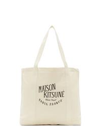 MAISON KITSUNÉ Off White Palais Royal Shopping Tote