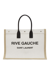 Saint Laurent Off White Rive Gauche Tote
