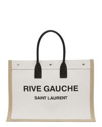 Saint Laurent Off White Rive Gauche Tote