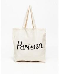Parisien Tote Bag In Ecru