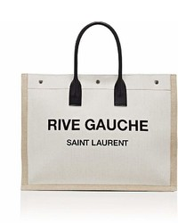 Saint Laurent Rive Gauche Large Canvas Tote Bag