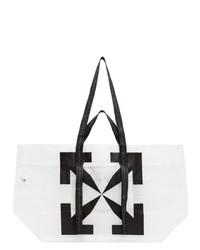 Off-White White Pvc Arrows Tote