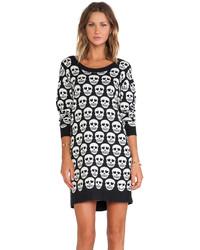 Printed skull sweater dress medium 115790