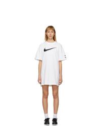 Nike White Sportswear Swoosh Dress
