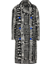 Proenza Schouler Double Breasted Printed Cotton Blend Coat