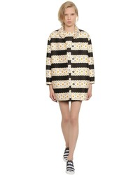 Mother of Pearl Floral Printed Cotton Silk Cocoon Coat