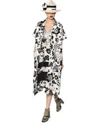 Printed lace cotton jacquard coat medium 1159552