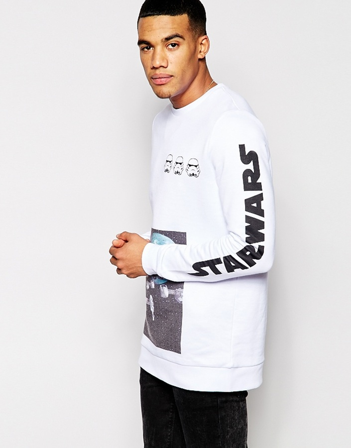 Star Wars Asos Brand Asos Longline Sweatshirt With Print | Where ...