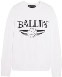 Brian Lichtenberg Ballin Cotton Blend Jersey Sweatshirt