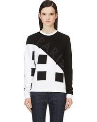 Kenzo Black White Corduroy Square Print Sweatshirt