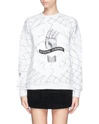 Nobrand Graphic Print Embroidery Sweatshirt