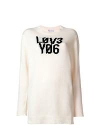 RED Valentino Lov3 Yo6 Knit Sweater