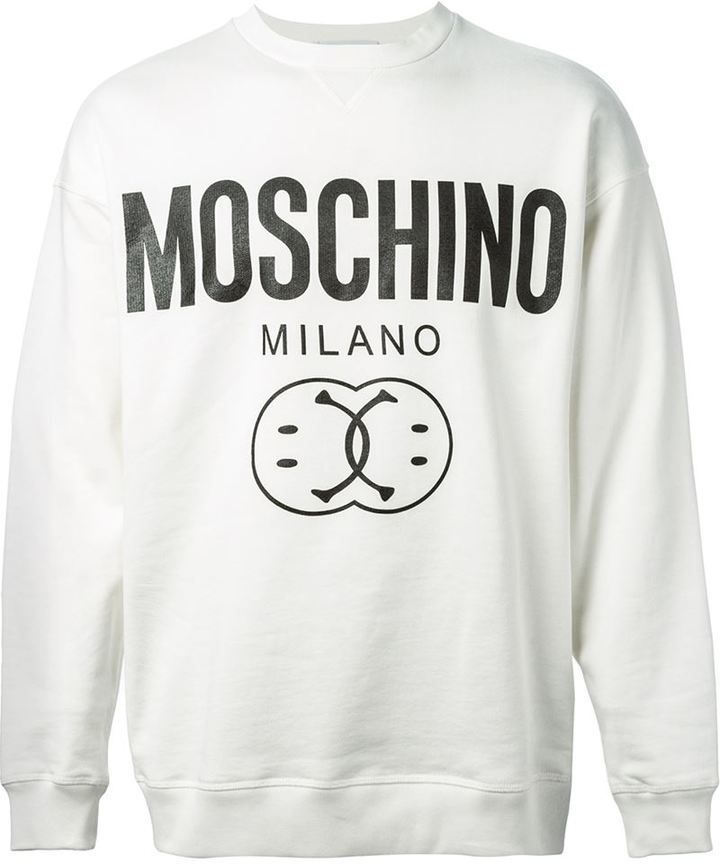 ebaad062 Moschino Smiley And Logo Print Sweatshirt, $120 | farfetch.com ...
