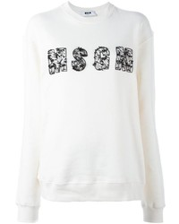 Msgm safety pin logo sweatshirt medium 1102419