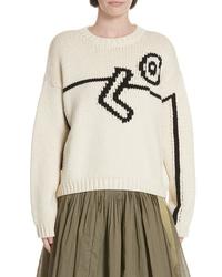 Tory Burch Oversize Intarsia Sweater