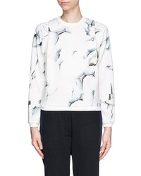 Nobrand Peeling Paint Print Jersey Sweatshirt