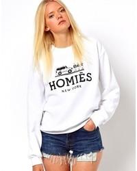 Reason Homies Sweatshirt Whiteblack Print