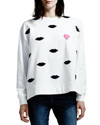 Stella McCartney Lip Sweatshirt White
