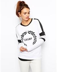 Zoe Karssen Sweatshirt With Champ Print Optical White