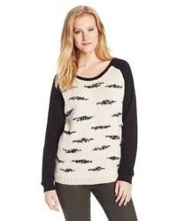 Maison Scotch Sweatshirt With Knited Front Panel