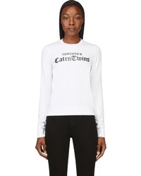 Dsquared2 White Caten Twins Sweatshirt