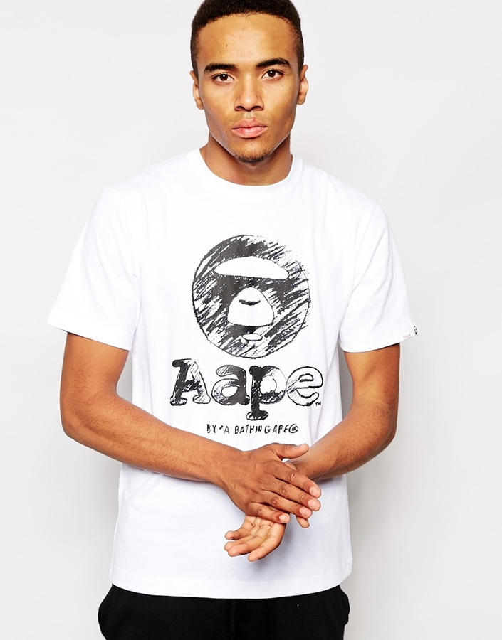 d57abfb802d ... Aape By Bathing Ape T Shirt With Circle Print ...
