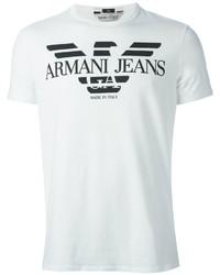 Armani Jeans Logo Print T Shirt