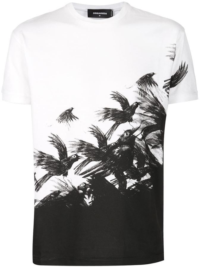 printed T-shirt - White Dsquared2 Discount Recommend Official Cheap Price Cheap Sale Latest Collections Sale Prices mdZtw5