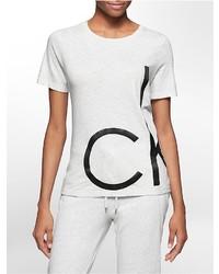 Calvin Klein Bold Oversized Logo Heathered T Shirt