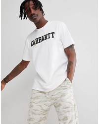 Carhartt Wip College T Shirt In White