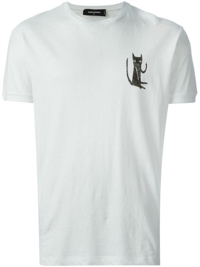 Dsquared2 Cat Print T Shirt Where To Buy How To Wear
