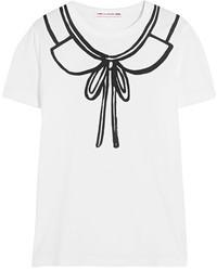 Comme des Garcons Comme Des Garons Girl Printed Cotton Jersey T Shirt White