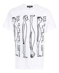 Comme des Garcons Homme Deux Comme Des Garons Homme Deux Graphic Print Cotton T Shirt