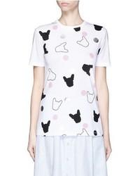 Etre Cecile French Bulldog Dot Print T Shirt