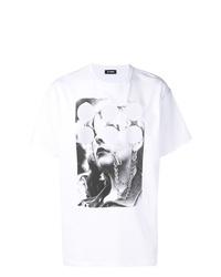 Raf Simons Face And Pattern T Shirt
