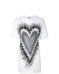 Fausto Puglisi Flaming Heart Oversised T Shirt