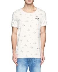 Scotch & Soda Freehand Concept Bird Print T Shirt