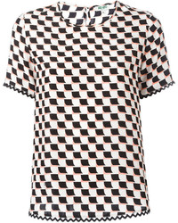 Kenzo Geometric Print T Shirt
