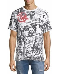 True Religion Graffiti Print Cotton T Shirt
