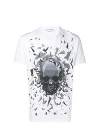 Alexander McQueen Graphic Skull Print T Shirt