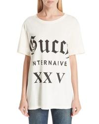 Gucci Guccy Internaive Print Cotton Jersey Tee