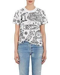 Junya Watanabe Comme Des Garons Junya Watanabe Comme Des Garons Graffiti Print Cotton T Shirt