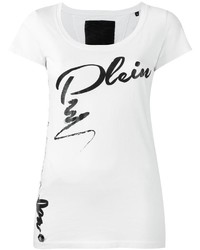Philipp Plein Lace Up Plein Print T Shirt