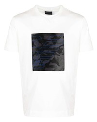 Emporio Armani Logo Camouflage Print T Shirt
