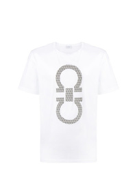 Salvatore Ferragamo Logo Patch T Shirt