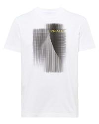 Prada Logo Print Short Sleeve T Shirt