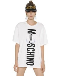 Moschino Logo Printed Cotton Jersey T Shirt