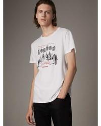 Burberry London Skyline Print Cotton T Shirt