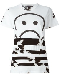 Marc by Marc Jacobs Unsmiley Stripes Print T Shirt